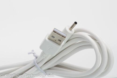 USB 2 m Blanc câble pour Motorola MBP27T MBP27TPU Parent Unit Moniteur Bébé