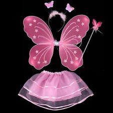 f70c4396f286 Girls Toddlers Small Pink Fairy Angel Wing Wand Tutu Set Fancy Dress ...