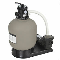 Pro Above Ground Swimming Pool Pump System 4500gph 19 Sand Filter W/ 1.0hp on sale