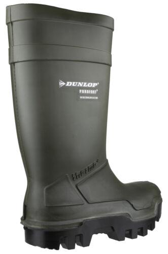Stivali Dunlop 13 con Safety a Purofort strappo Uk5 verdi unisex Thermo Full chiusura rAW1RBqfrd