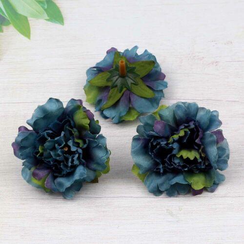"Small Carnation 2/"" Lot Artificial Silk Flower Heads Wedding Home Decor Wholesale"
