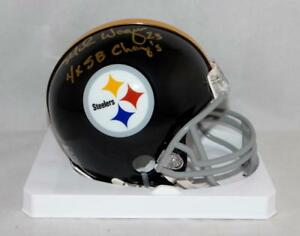 Mike-Wagner-Signed-Steelers-63-76-TB-Mini-Helmet-W-SB-Champs-Jersey-Source-Auth