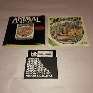 UNTESTED Animal Bytes Simon The Snake COMPLETE Commodore 64/128 Kids Game