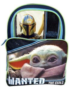 "Star Wars 16"" Cargo Backpack Mandalorian Baby Yoda Wanted ..."