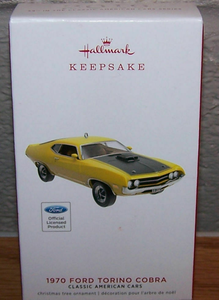 New Hallmark Keepsake 1970 FORD TORINO COBRA Classic American Car Metal ORNAMENT