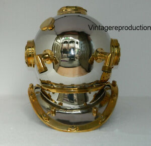 Special offer with small scratches Silver Diving Helmet US