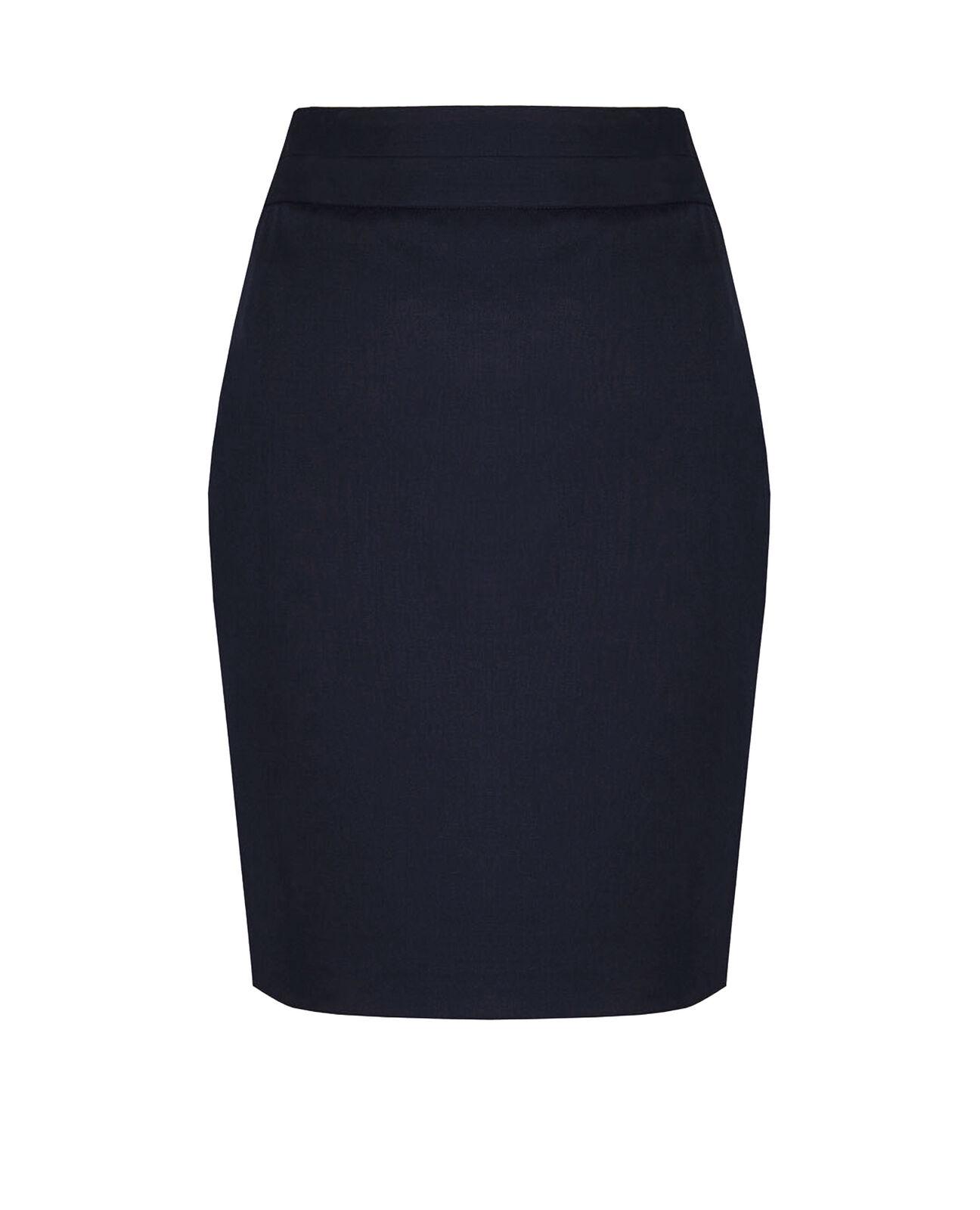 BNWT Womens M/&S Size 18 Copper /& Navy Stretch Skirt 18 inch