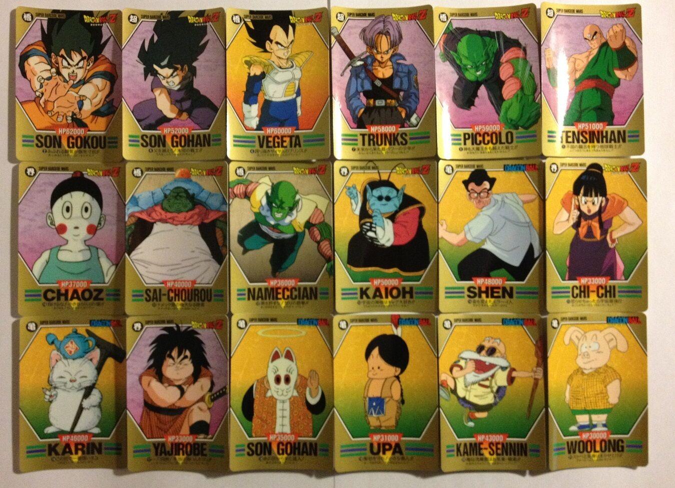 Dragon Ball Z Super Barcode Wars PART 1 Reg Set 36/36