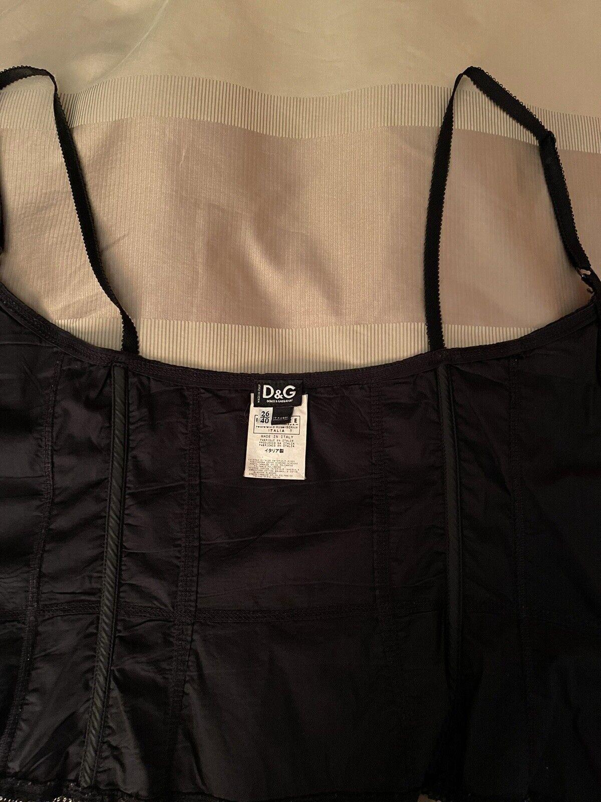 Dolce& Gabbana Black Lace Corset Top Size 26/40 - image 7
