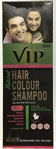 VCare VIP Hair Colour Shampoo 5 In 1- 180ML -Head,Moustache,Beard,Chest, Hand