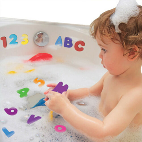 Children Kid Creative Alphanumeric Bath Sticker Early Educational Toy Shower Toy