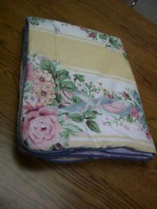 Croscill-Multi-color-Floral-Print-Cotton-Poly-Quilted-Standard-Pillow-Sham
