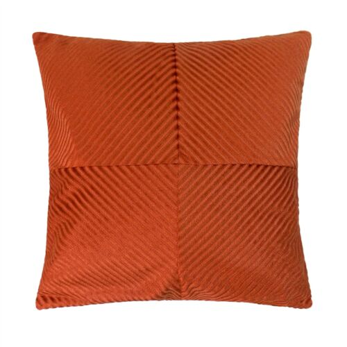 """Rempli Orange Inspiral Rayure Chenille épais Soft 18/"""" 45 Cm Coussin"""