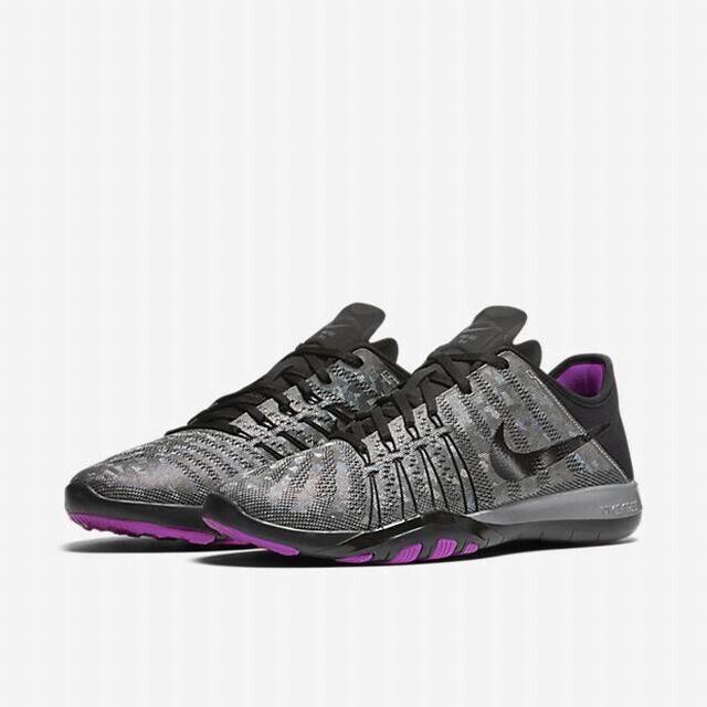 Nike Free TR 6 MTLC MTLC MTLC UK 5 EU38.5 Black Metallic Silver Hyper purple 90b90f