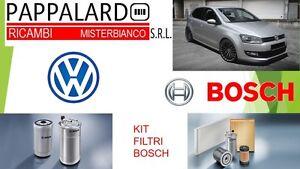 KIT TAGLIANDO 4 FILTRI BOSCH VW POLO 1.6 TDI da Giugno 2009