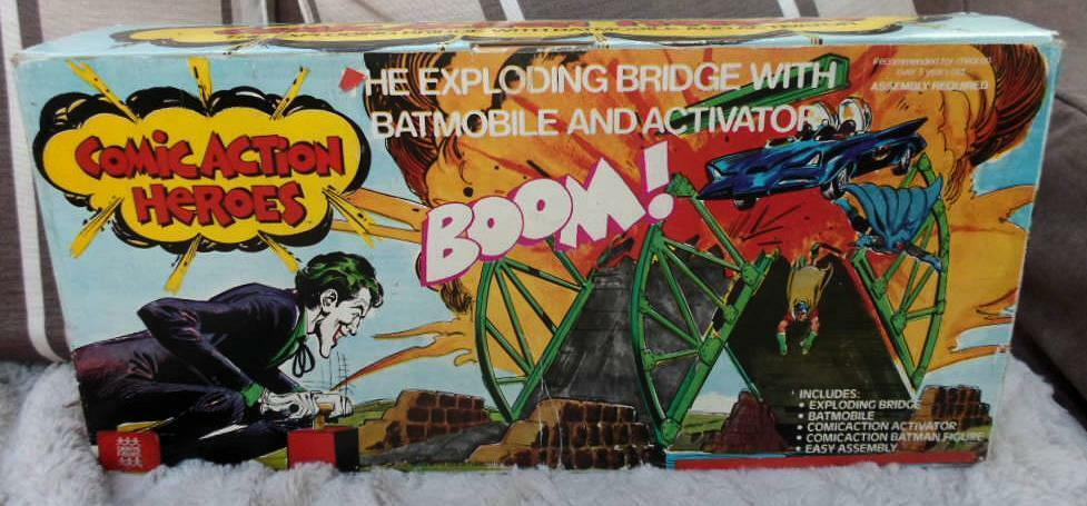 Mego Exploding Bridge Batmobile BOXED DENYS FISHER FIGURE 1976 Batman joker