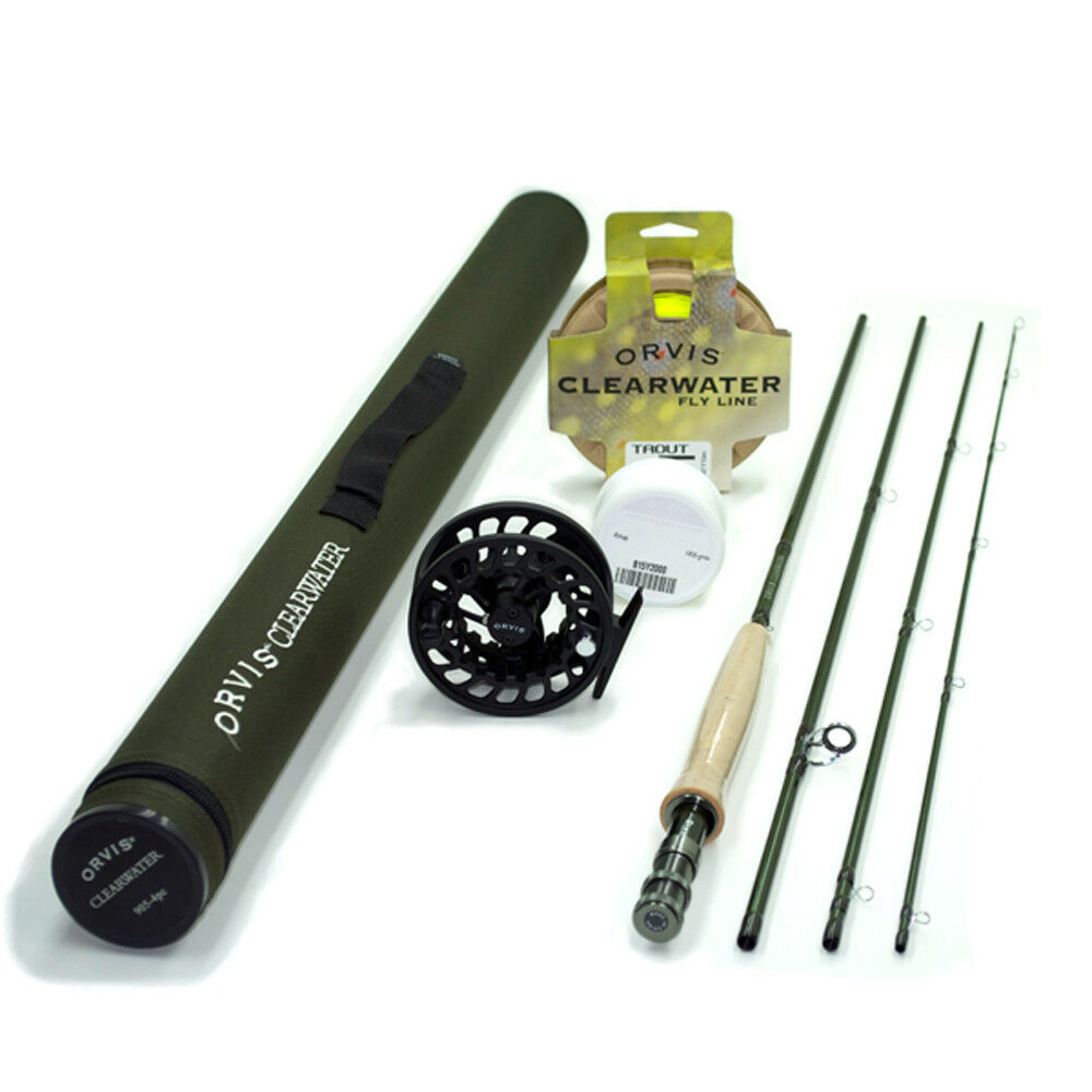 Orvis Clearwater 865-4 Fly Rod Outfit   8'6   5wt  free and fast delivery available