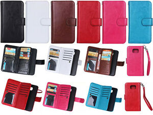 Strap-9in1-Mutifunction-Leather-Wallet-Card-Case-Cover-For-iPhone-Moto-Asus-DK
