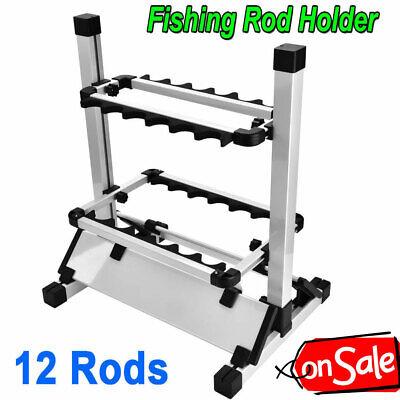 Portable Fishing Rod Rack Floor Stand Garage Pole Holder ...