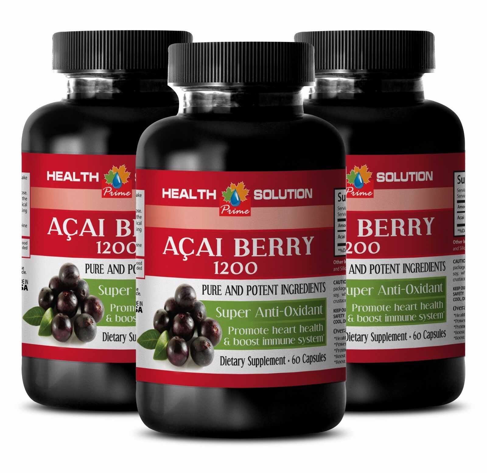 Detox pills - ACAI BERRY 1200 SUPER SUPER 1200 ANTIOXIDANT - Detox powder 6B 431548