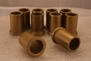 """10 Flanged Oilite Bushes 1/2"""" Bore x 5/8"""" Outside Dia x 1"""" Overall Length"""