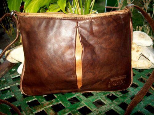 Tocco en bandoulière cuir Vintage véritable Toscano à Sac wtCF7xqRw