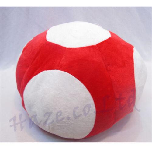 Super Mario Bros Red Mushroom Plush Hat Gaming Cosplay Costume Cap New