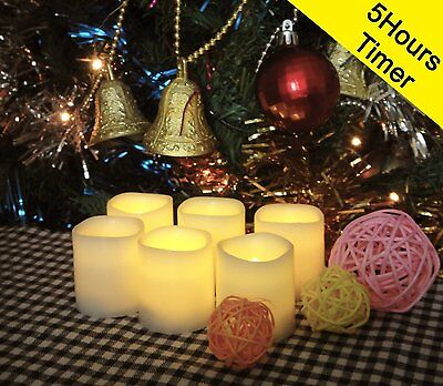 LED Candles Votive Flickering Flameless Quality Cute Tea Lights Battery 6PCS