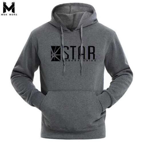 2017 STAR Labs Black Women//Men Hooded Hoodies Male Sweatshirt Jumper The Flash G