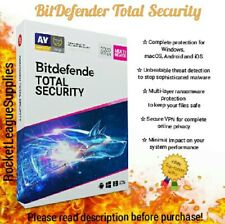 BitDefender Total Security 2020/2019 Activation Code Key 3/6/12 MONTHS - 1 YEAR
