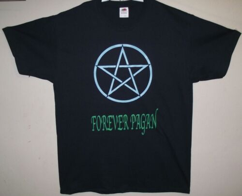 Forever pagan pentacle t shirt pagan shirts witch wicca nature S to 2XL size