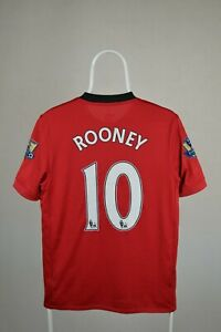 Wayne Rooney #10 Manchester United Home Maglia Jersey Nike 2009-2010 Adulto Taglia S
