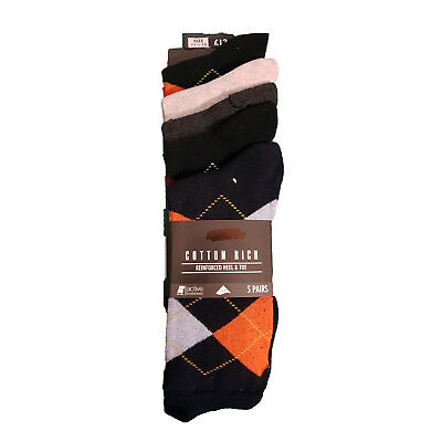 100% QualitäT Ex Store (n*xt) 5 Pack Purista Argyle Cotton Rich Active Fresh Socks Rrp £12.00 Dauerhafte Modellierung