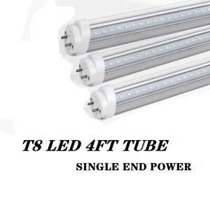 T8 4FT LED Tube 36W Dual-end Powered Double Line 6000K Daylight G13 Bubls