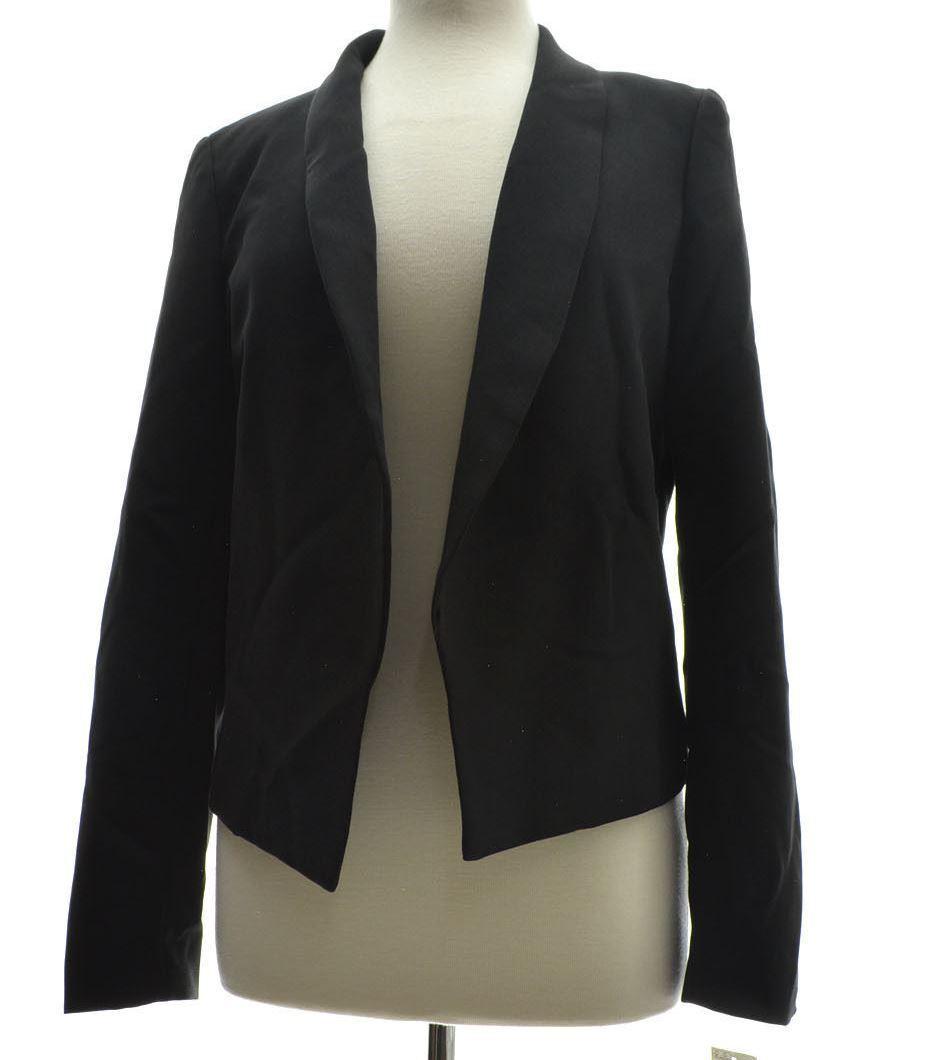 BAR III Women's Long Sleeve Blazer Jacket Black S