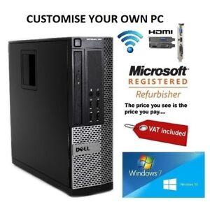 Fast Dell Optiplex Desktop PC I3 I5 4GB 8GB HDMI Windows 10 & 7 SSD HDD