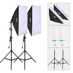 OUBO Studioleuchte Fotostudio Set Softbox Studiolampe 270W Fotolampe ...