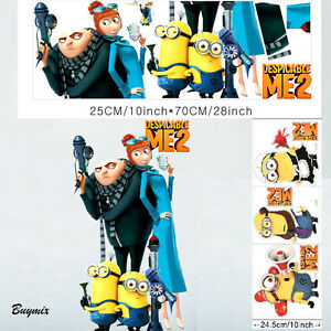 Minions Despicable Me Wall Art Stickers Boys Girls Bedroom Children Party Decor