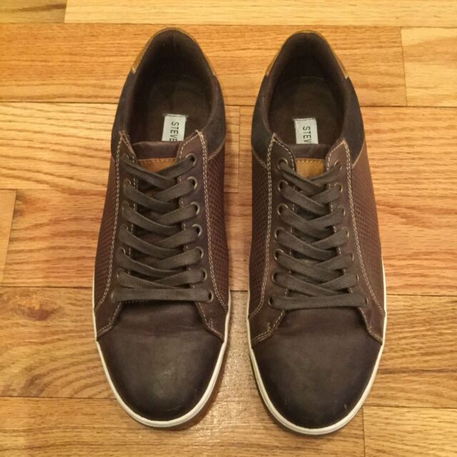 25c31b2a24c Mens Steve Madden Brown Leather Sneaker - size 8.5