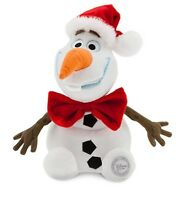 Disney Authentic Frozen Christmas Santa Hat Olaf Snowman Plush Toy Doll 10 Tall