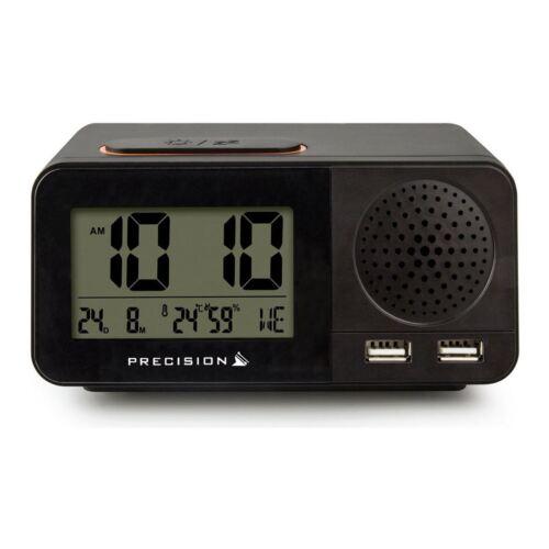 Précision Radio Contrôlée Dual USB numérique réveil de voyage AP055