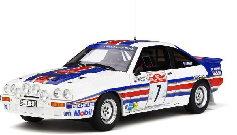 OTTO MOBILE 761 OPEL MANTA 400R rally car San Remo Toivonen redhmans 1983 1 18th