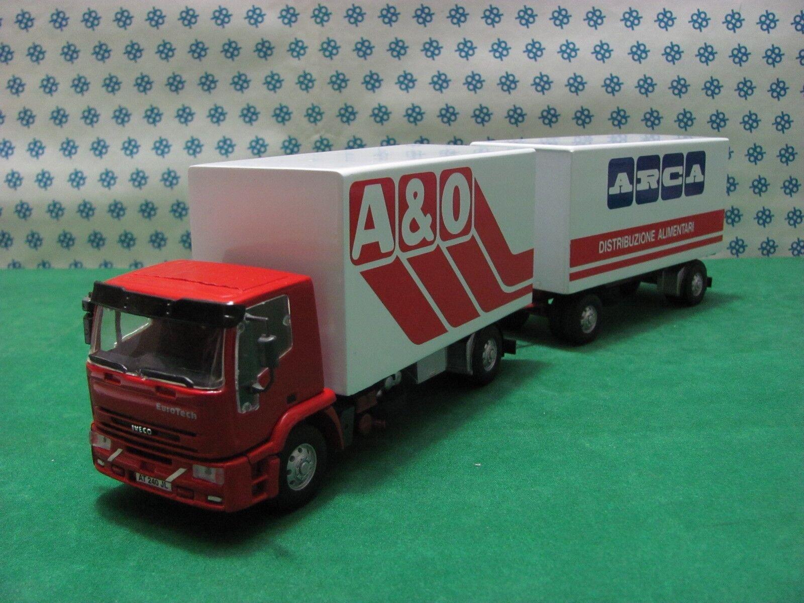 Camion Iveco Eurossoech Remorque Van A&o Arca - 1 43 Old Voitures   Gila Modèles