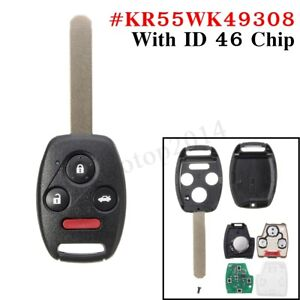 Remote-Key-Fob-Keyless-Entry-ID46-Uncut-Replacement-For-Honda-Pilot-Accord