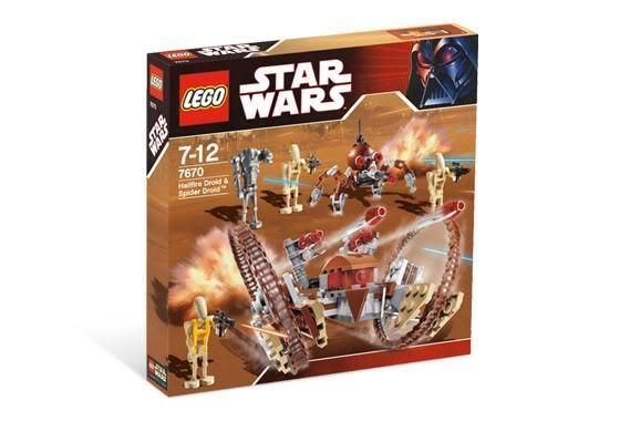 STAR WARS Lego 7670 Hailfire Droid Spider Droid minifig new rare Vader schwarz box