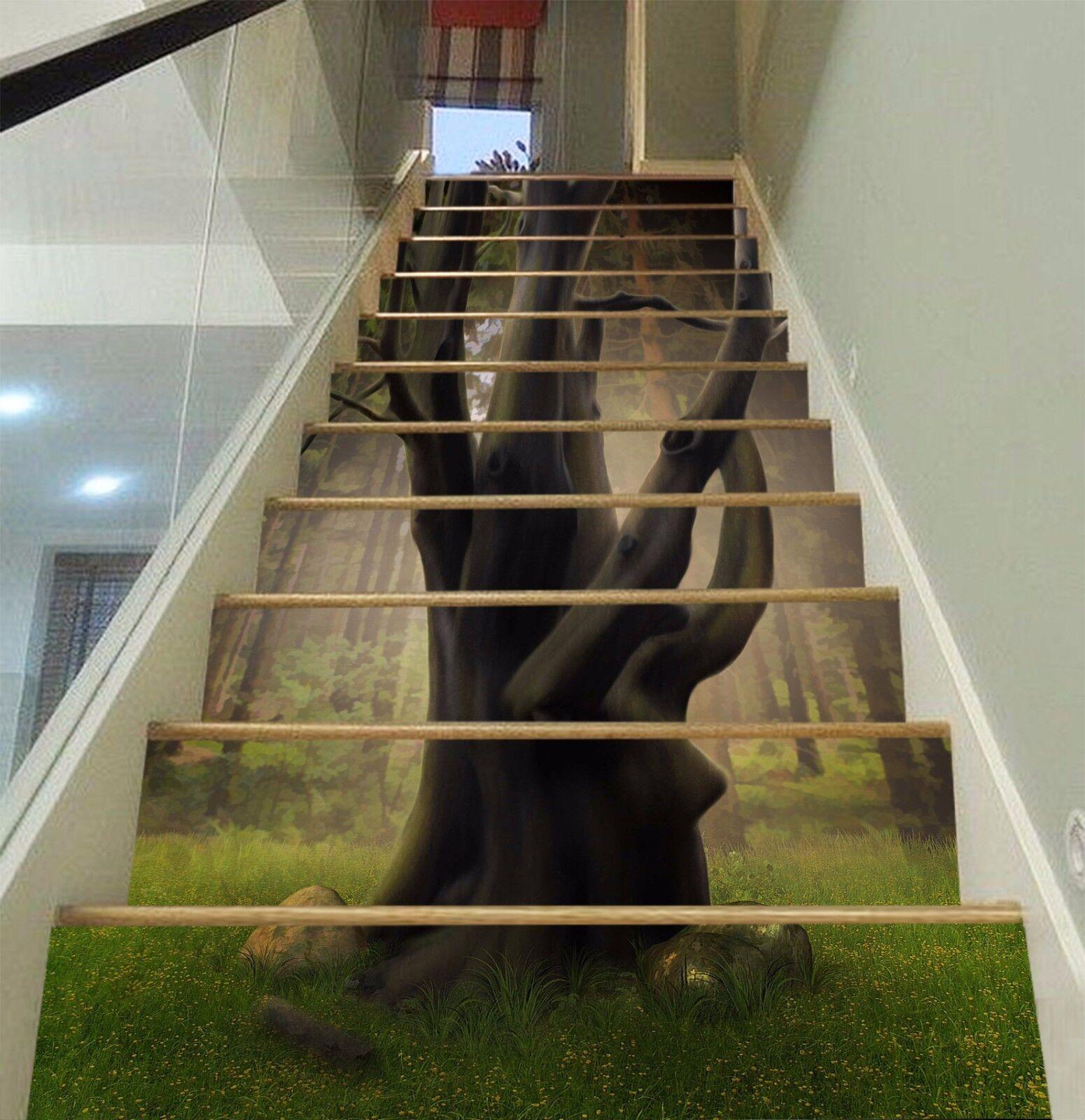 3D Forest Tree 914 Stair Risers Decoration Photo Mural Vinyl Decal WandPapier AU