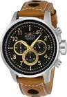 Invicta 23597 Men's Black Dial Light Brown Strap Chronograph Watch