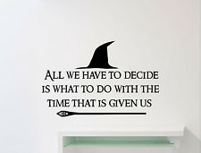 Lord Of The Ring Quote Wall Decal Gandalf Staff Vinyl Sticker Movie Mural 87ct