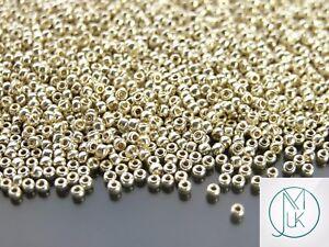 250g-PF558-PermaFinish-Galvanized-Aluminium-Toho-Seed-Beads-11-0-2-2mm-WHOLESALE