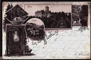 231-481-Eisenach-Die-Wartburg-Gruss-Mariental-Drachenschlucht-Litho-gl1896